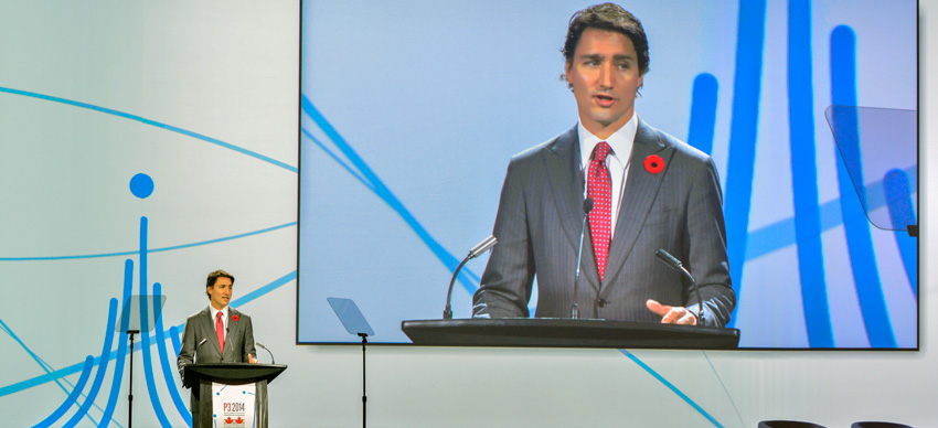 Right Honourable Justin Trudeau speaking at P3 2014