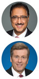 Amarjeet Sohi and John Tory head shots